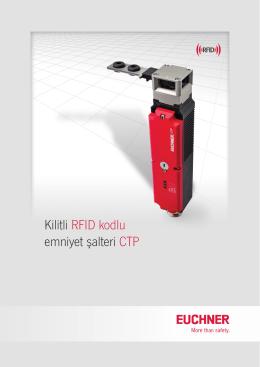 Kilitli RFID kodlu emniyet şalteri CTP