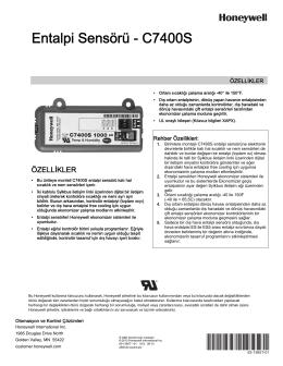 63-1365T—01 - Entalpi Sensörü - C7400S