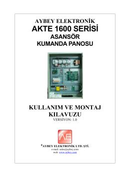 AKTE 1600 Serisi - Aybey Elektronik