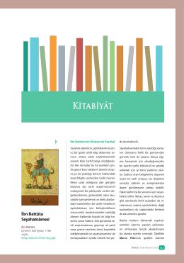 Kitâbiyât - Rıhle Dergisi