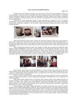 Akköy Sadece Bir Köy Değildir Bizim İçin Ergün Arda* Çanakkale