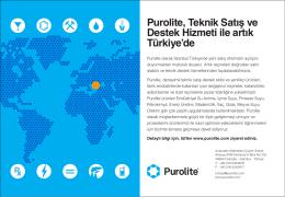 Purolite, Teknik Satış ve Destek Hizmeti ile artık Türkiye`de