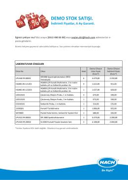 Mevcut demo cihaz listesini
