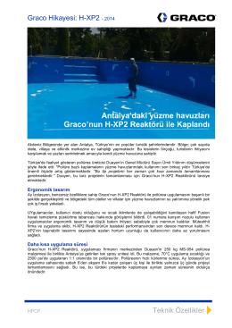 Antalya`daki yüzme havuzları Graco`nun H