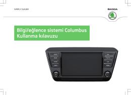Bilgi/eğlence sistemi Columbus Kullanma kılavuzu