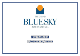 2015 Grand Blue Sky International FACT SHEET