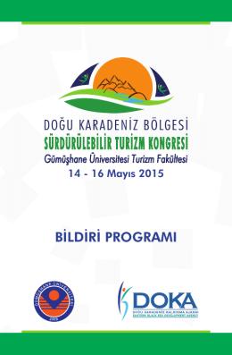 Kongre Programı - Doğu Karadeniz Bölgesi Sürdürülebilir Turizm