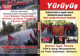 SON SAYI PDF - Yürüyüş Dergisi