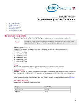 ePolicy Orchestrator 5.1.3 Sürüm Notları