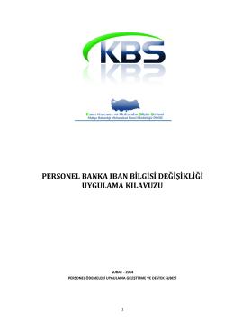 KBS Personel IBAN Değişikliği Kılavuzu V1