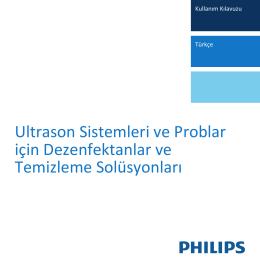Ultrason Sistemleri ve Problar için Dezenfektanlar ve