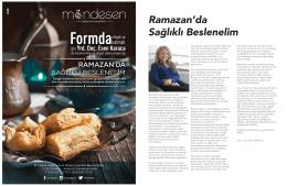 Ramazan`da Sağlıklı Beslenelim