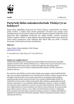 Paris`teki iklim müzakerelerinde Türkiye`yi ne bekliyor?