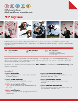 2015 Başvurusu - International Council of Shopping Centers