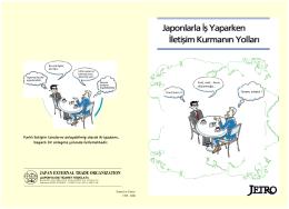 Japonlarla ‹fl Yaparken ‹letiflim Kurman›n Yollar› Japonlarla ‹fl