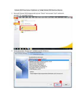 Outlook İçin E-posta Yedekleme