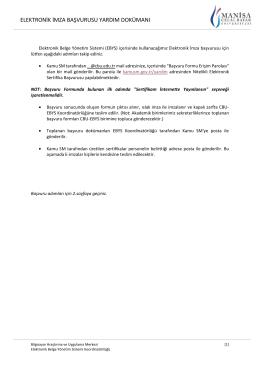 elektronik imza başvurusu yardım dokümanı - EBYS`ye giriş
