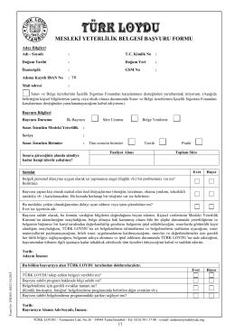 Adayın imzasını içeren başvuru formu