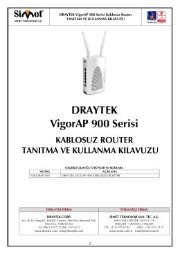 DRAYTEK VigorAP 900 Serisi
