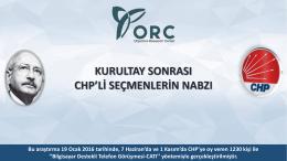 Kurultay Sonrası CHP`li Seçmenlerin Nabzı