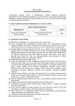 Sayfa 1 / 4 D U Y U R U (Yurtdışı Sözleşmeli Din Görevlisi Sınavı