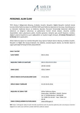 personel alım ilanı - euygulama.dpb.gov.tr