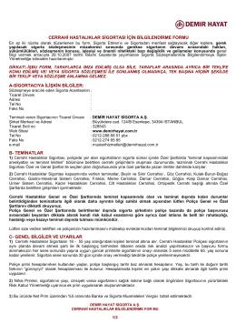 cerrahi hastalık bilgilendirme formu / 02/06/2015 tarihli