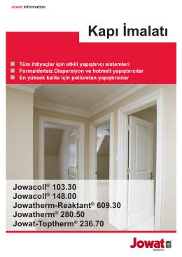 Jowat Information - HM Tuerenherstellung Tr