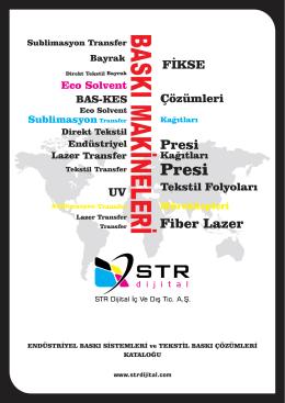 baskı yapılan katalog.cdr - STR Dijital İç Ve Dış Tic. A.Ş.