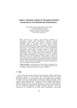 Statik ve Dinamik Analizler ile Hesaplanan Risklere - CEUR