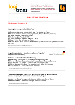 SUPPORTING PROGRAM