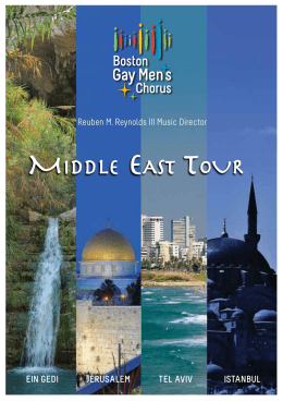 Middle east tour - Boston Gay Men`s Chorus