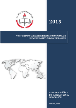 Yurtdışı Okutman Sınav Kılavuzu - Avrupa Birliği ve Dış İlişkiler