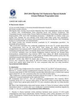 Senato Esasları - Online Başvuru Sayfamız (www.int.sakarya.edu.tr)