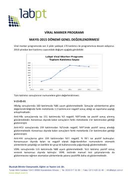 viral marker programı mayıs-2015 dönemi genel