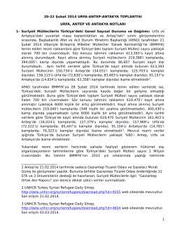 20-22 Şubat 2014 Urfa-Antep