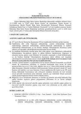 Bilişim Personeli - euygulama.dpb.gov.tr