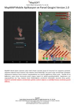 MapMAPMobile Aplikasyon ve Parsel Gezgini