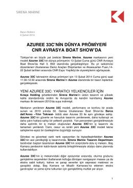 azuree 33c`nin dünya prömiyeri cnr avrasya boat show`da