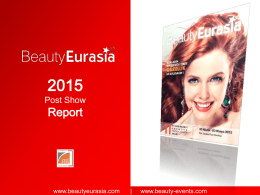the BeautyEurasia 2015 Post Show report