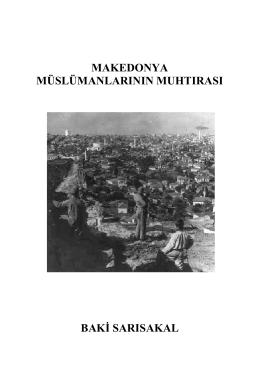 makedonya müslümanlarının muhtırası