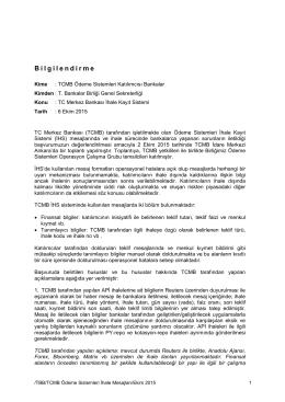 2 Ekim 2015 Ödeme Sistemleri Operasyon Çalışma Grubu