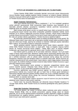 TALİMATNAME - Türkiye Noterler Birliği