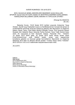 karar numarası: y(kı)419-2015 sivil havacılık genel müdürlüğü