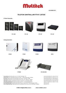 telefon santralları fiyat listesi