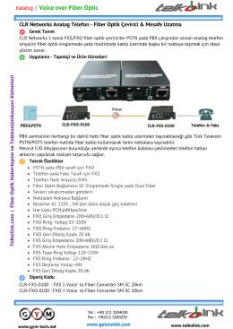 1 Hat Telefon - Fiber Optik Çevirici & Mesafe Uzatma