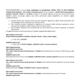 TR31/14/BTD01/0017 numaralı EDAK E