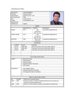 Prof. Dr. Celal KOZANOĞLU - İnşaat Mühendisliği