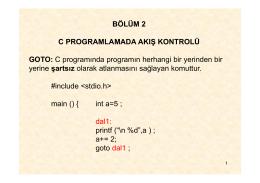 EET 103 Algoritma ve Programlama Ders Notu