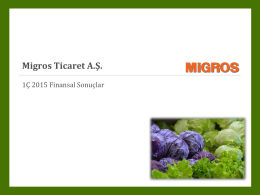 1Ç 2015 Migros Yatırımcı Sunumu